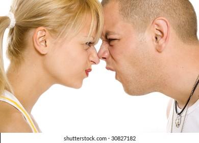 closeup of a couple