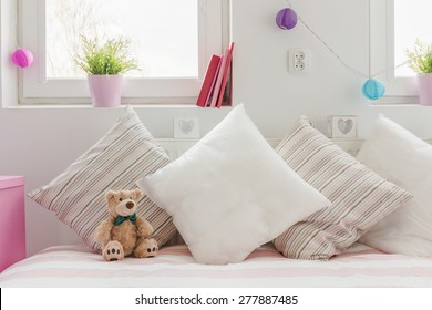 Close-up of cozy space for little child