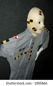 Closeup of crash test dummy