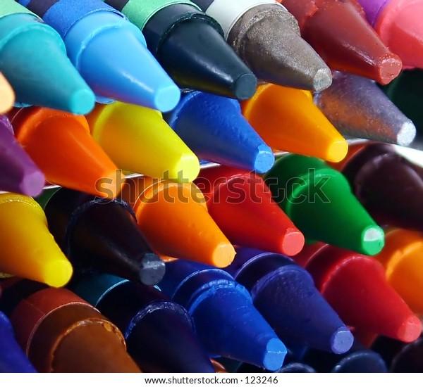 Closeup of Crayons
