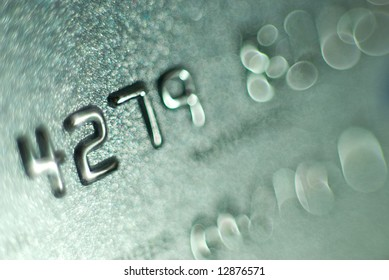 A Close-up of a Credit Card.