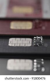 closeup of credit card