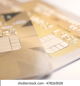 Closeup credit card finance and banking concept for background.