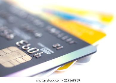 Closeup Credit card  - Stock Image