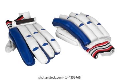 Close-up of cricket batting gloves