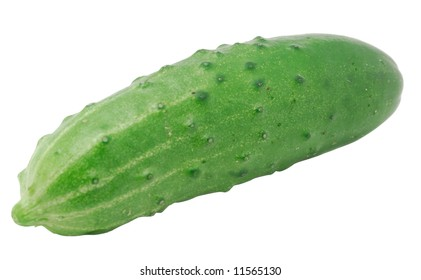 A close-up of cucumber isolated on white background