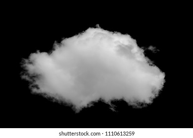 Close-up cumulus clouds isolated on black background, Black sky with white clouds
