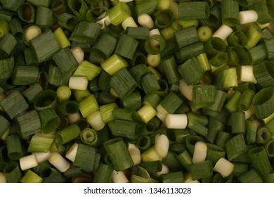 Close-up cut fresh onions