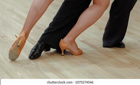 closeup of dancer's legs
