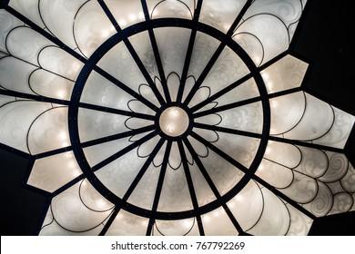 Closeup of a Decorative Ceiling Light Fixture
