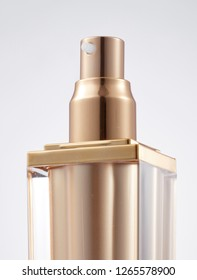 Close-up delicate cosmetic bottle