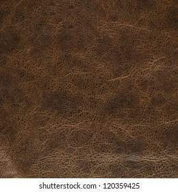 Detalle del fondo de textura de cuero marrón antiguo.