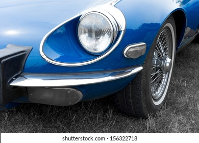 Close-up of details of vintage American Cars
