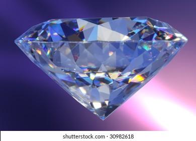 Close-up diamond in blue light#3