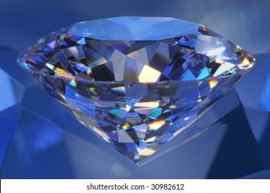 Close-up diamond in blue light#6