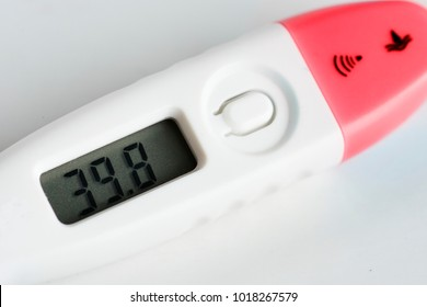 Closeup of digital thermometer