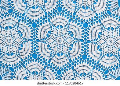 Closeup, directly above shot of vintage crochet handmade pattern