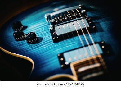 Closeup Dirty Body Electric Guitar