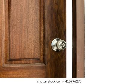 closeup door opened
