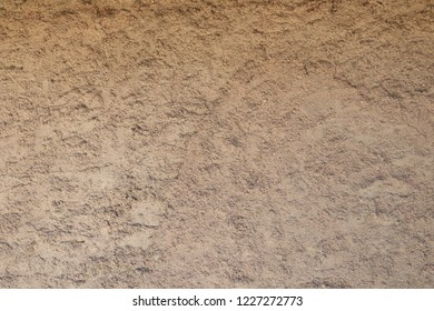 Closeup of an dried mud wall in the deserts of  New Mexico