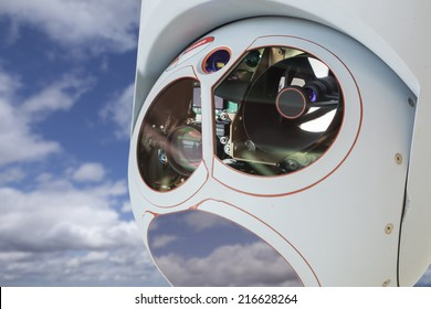 Closeup of a Drone Camera and Sensor Pod Module.