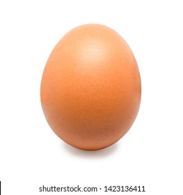 close-up egg chicken isolated on white background