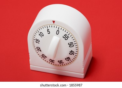 close-up of egg timer running out of time