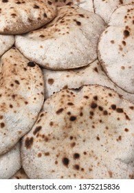 Closeup of Egyptian Arabic bread