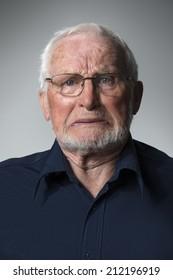 Closeup of elderly man's eye