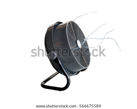 76dbcc42cc7 Closeup Electric Fan Isolated On White Stock Photo (Edit Now ...