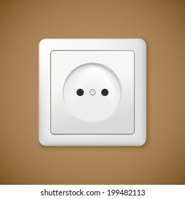Closeup of electrical outlet. socket for you design.