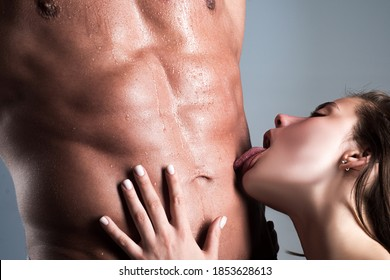 Close-up of elegant beautiful couple kiss passionately. Sexy girl embracing and kissing man lovers