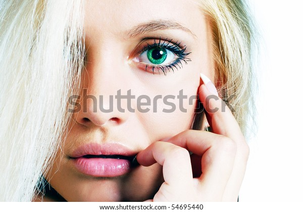Close-up of emotional woman