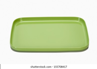 Close-up of an empty plastic tray