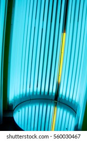 Close-up of an empty tanning tube.