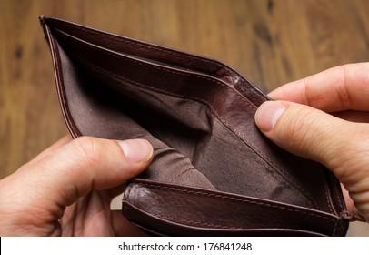 A Closeup to An Empty Wallet