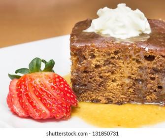 Closeup of English Toffee Pudding