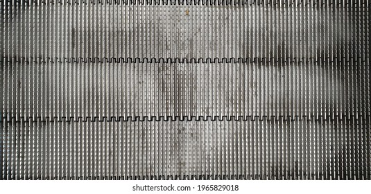 Close-up of the escalator floor in the building, Escalator vertical line, Escalator floor texture background