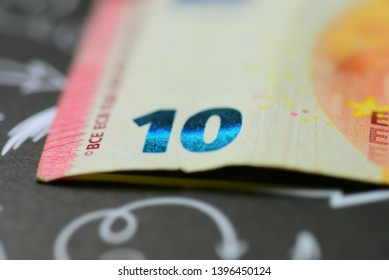 Close-up of a euro bank note