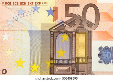 Closeup of the Euro currency money note