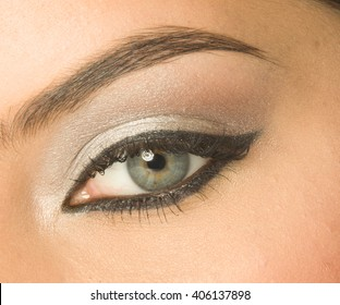 Close-up of eye with make-up