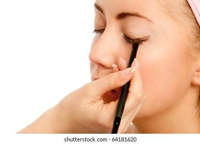 Close-up of  Eye Make-Up