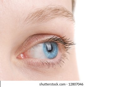 close-up of eyes