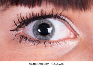 closeup eye-zone portrait of beautiful girl