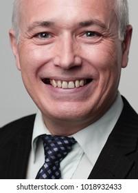 closeup of the face of big businessman