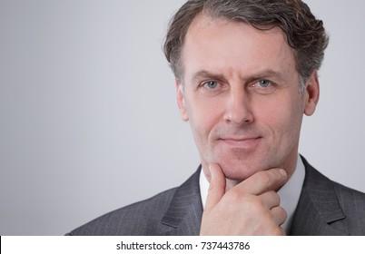 closeup face of a serious businessman.