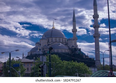 close-up for Fatih mosque in istanbul 2020  - Shutterstock ID 1824791267