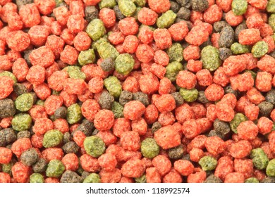 Closeup the feed can use background