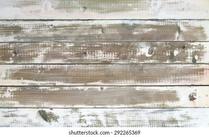 Closeup of few planks with washed color.Studio shot.