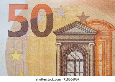 Closeup of the fifty euro banknote,Euro currency money